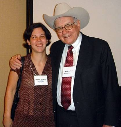 Jennifer Saragosa with the Google Juice King, Warren Buffett