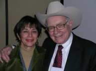 Monika Maeckle and Warren Buffett