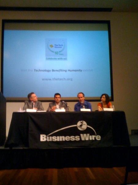 L-R: Steve Trousdale, Aaron Ricadela, Michael Liedtke, Shana Lynch