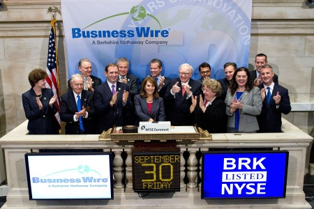 Business Wire rings the opening bell at the NYSE September 30, 2011