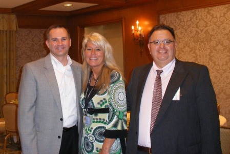 Pete Codella, Debra Lund of Franklin Covery, and Business Wire Phoenix Regional Manager Grant Armendariz