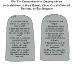 Ten Commandments of Pitching
