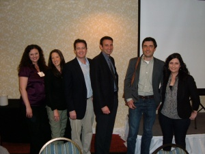 L-R: Angela Nelson, Jamie Wallace, Shane O'Neill, Paul Roberts, Galen Moore, Tiffany Campbell