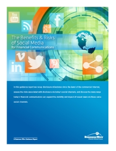 Business Wire Benefits of SM for IROs