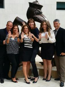 UM Sebastian with Business Wire Miami Team & Serena Ehrlich