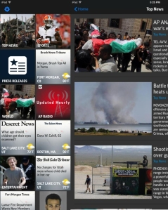 Visual content on the AP Mobile app for iPad