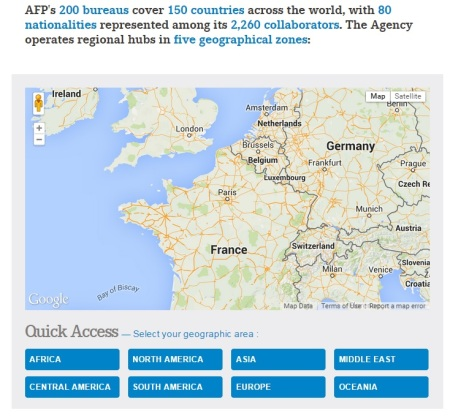 AFP news bureaus