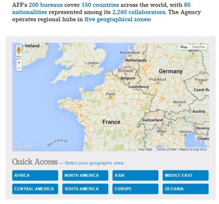AFP news bureaus